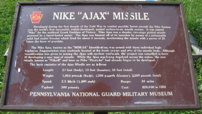 "Nike ""Ajax"" Missile Marker image. Click for full size."