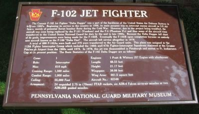 F-102 Jet Fighter Marker image. Click for full size.