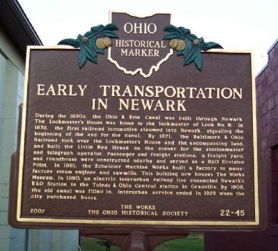 Early Transportation in Newark Marker image. Click for full size.