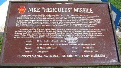 "Nike ""Hercules"" Missile Marker image. Click for full size."