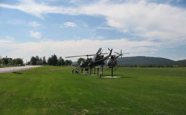 Three Helicopters on Display at Fort Indiantown Gap image. Click for full size.