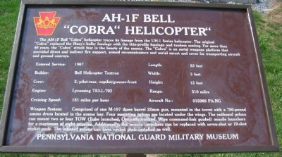 Former AH-1F Bell Marker image. Click for full size.