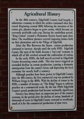 Agricultural History Marker image. Click for full size.