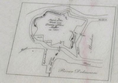 Map of Fort Mifflin from Marker image. Click for full size.