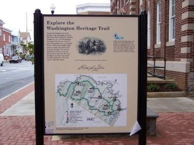 Explore the Washington Heritage Trail Marker image. Click for full size.