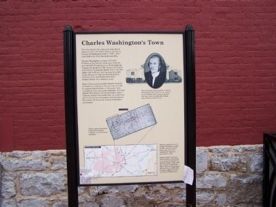 Charles Washington's Town Marker image. Click for full size.