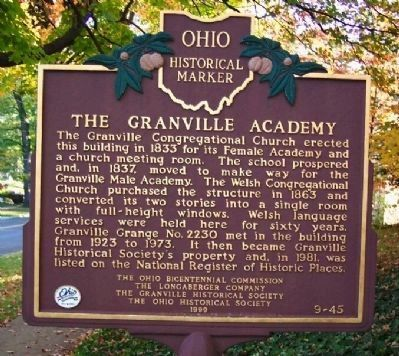 The Granville Academy Marker image. Click for full size.