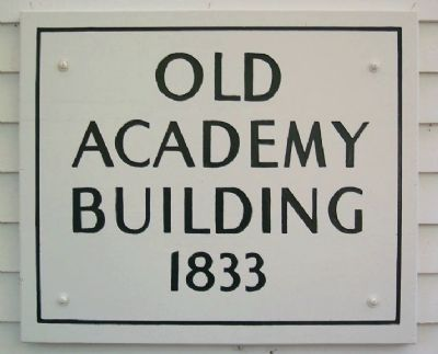 The Granville Academy, c.1833 Sign image. Click for full size.