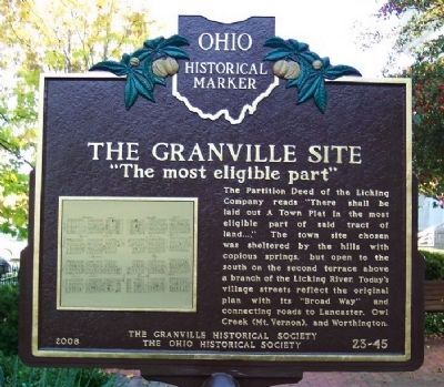 "The Granville Site ""The most eligible part"" Marker (side B) image. Click for full size."