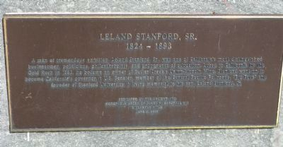Leland Stanford, Jr. Marker image. Click for full size.