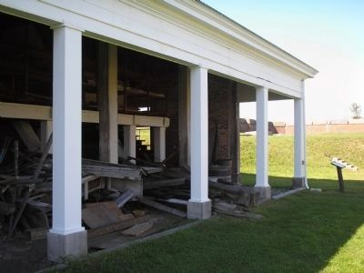 Fort Mifflin's Artillery Shed image. Click for full size.