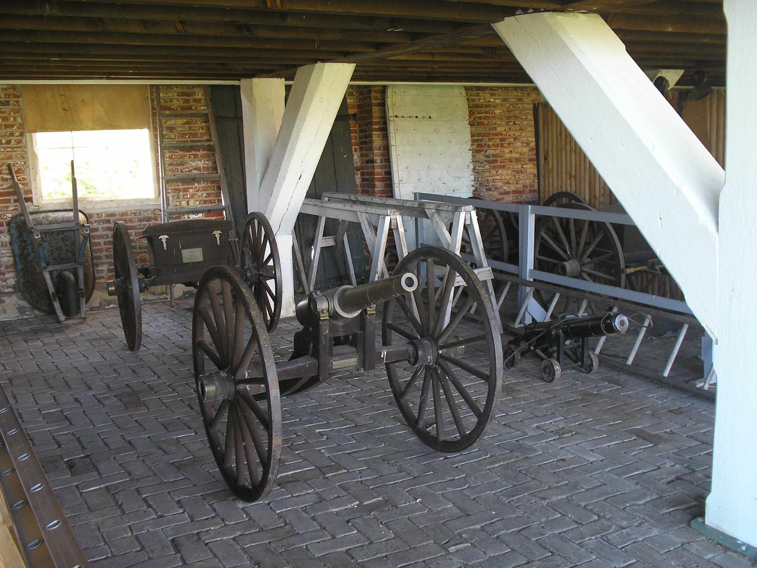 Inside the Artillery Shed