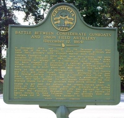 Battle Between Confederate Gunboats and Union Field Artillery Marker image. Click for full size.