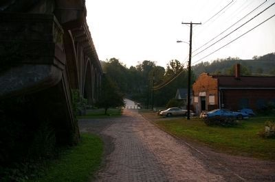 View across the bridge, looking west. image. Click for full size.