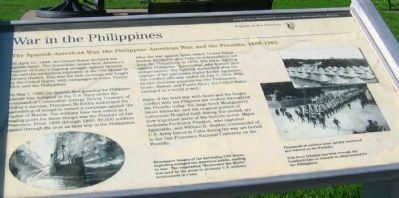 War in the Philippines Marker image. Click for full size.