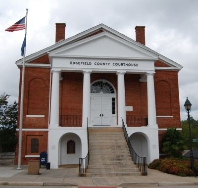 Edgefield County Courthouse -<br>Marker at Far Left image. Click for full size.