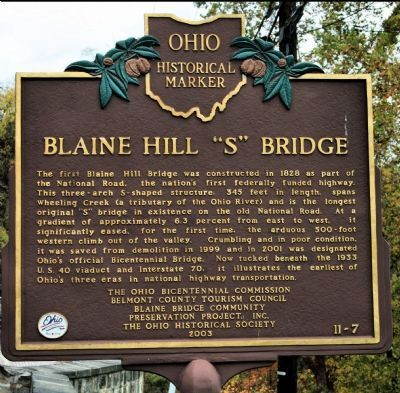 "Blaine Hill ""S"" Bridge Marker image. Click for full size."