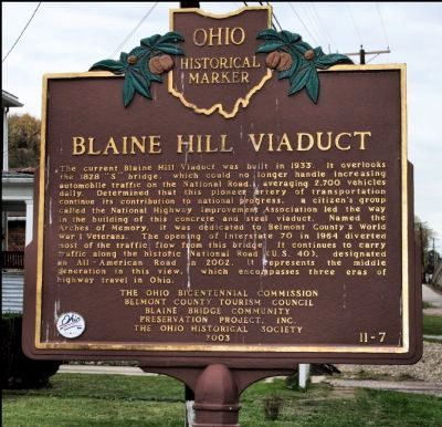 Blaine Hill Viaduct Marker image. Click for full size.