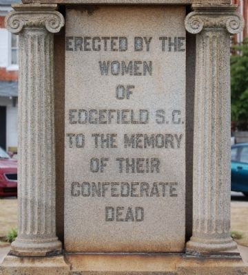 Edgefield County Confederate Monument -<br>East Inscription image. Click for full size.