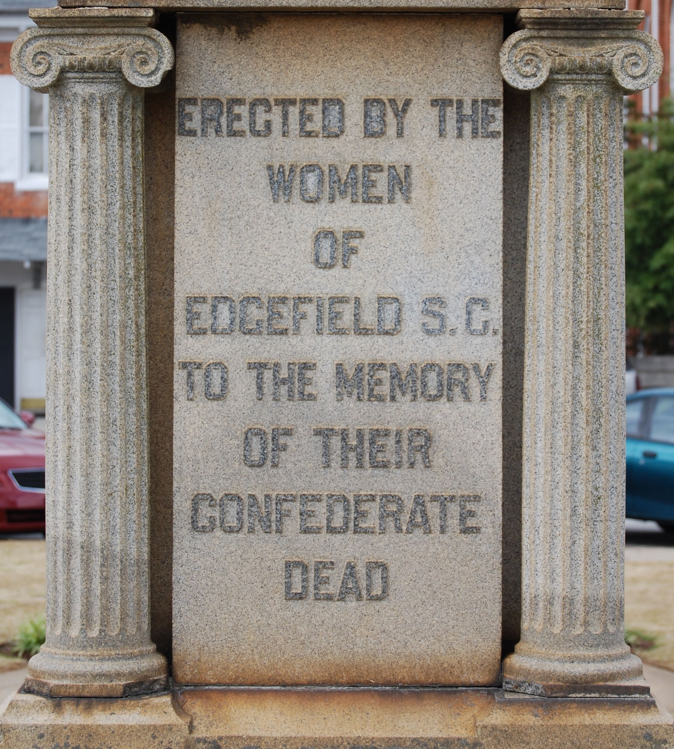 Edgefield County Confederate Monument -<br>East Inscription
