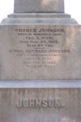 Orange Johnson Monument image. Click for full size.