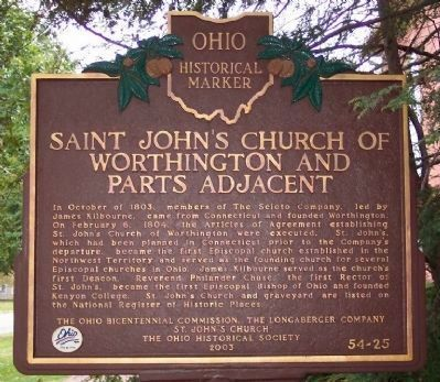 Saint John's Church of Worthington and Parts Adjacent Marker image. Click for full size.