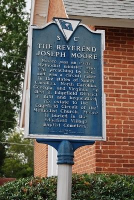 The Reverend Joseph Moore Marker image. Click for full size.