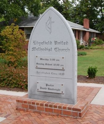 Edgefield United Methodist Church Sign image. Click for full size.