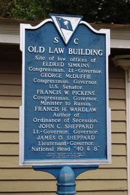 Old Law Building Marker image. Click for full size.