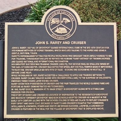 John S. Rarey and Cruiser Marker image. Click for full size.