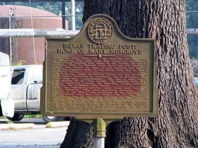 Duplicate Indian Trading Post: Home of Mary Musgrove Marker image. Click for full size.