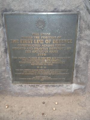 The First Line of Defence Marker image. Click for full size.