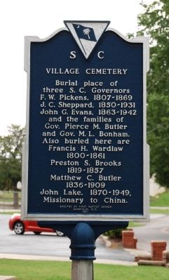 Village Cemetery Marker image. Click for full size.