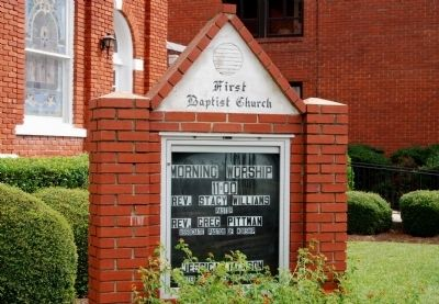 First Baptist Church Sign image. Click for full size.