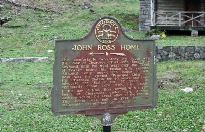 John Ross Home Marker image. Click for full size.