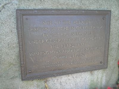 Site of the Redoubt Marker image. Click for full size.