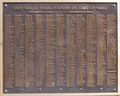 Plaque on west face of Memorial image. Click for full size.