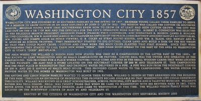 Washington City 1857 Marker image. Click for full size.