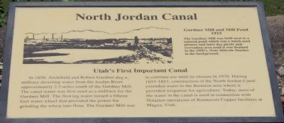 North Jordan Canal Marker image. Click for full size.
