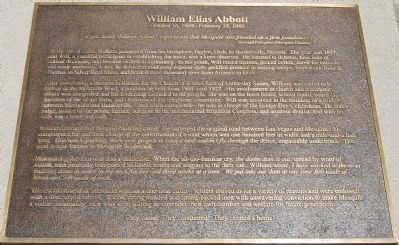 William Elias Abbott Marker image. Click for full size.