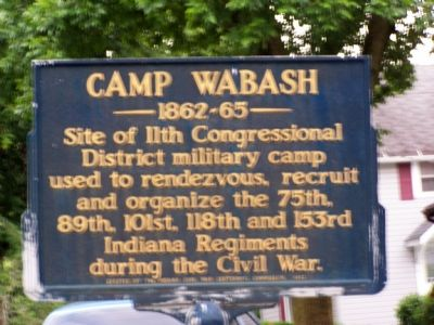 Camp Wabash Marker image. Click for full size.