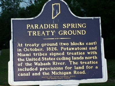 Paradise Spring Treaty Ground Marker image. Click for full size.