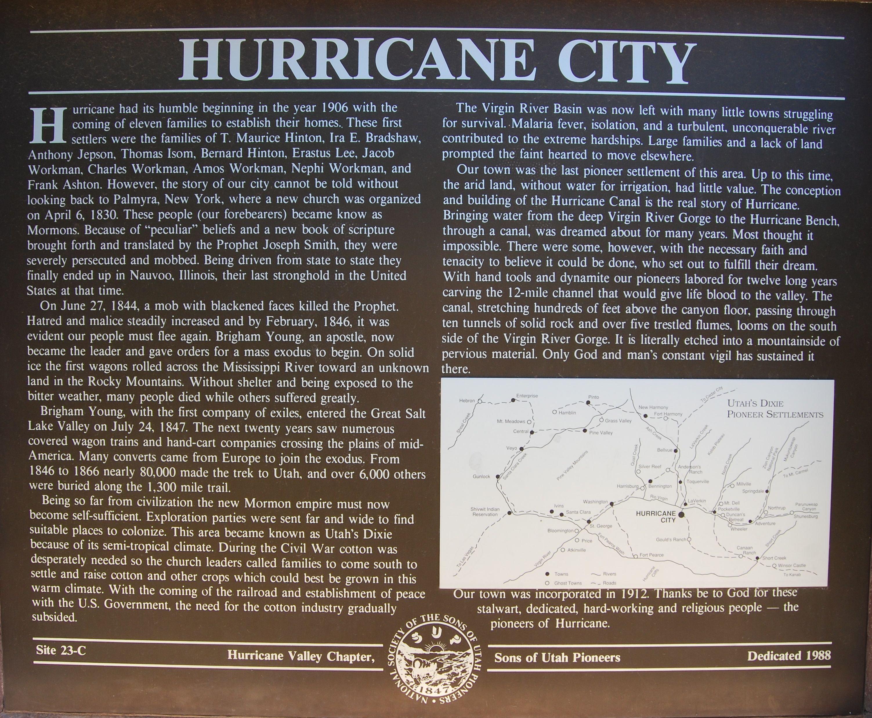 Hurricane City Marker