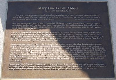 Mary Jane Leavitt Abbott Marker image. Click for full size.