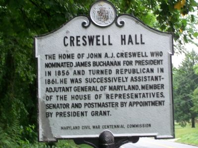 Creswell Hall Marker image. Click for full size.