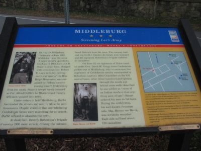 Middleburg – Screening Lee's Army Marker image. Click for full size.