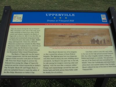 Upperville – Drama at Vineyard Hill Marker image. Click for full size.