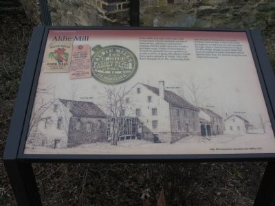 Aldie Mill Marker image. Click for full size.