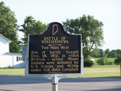 Battle of Mississinewa Marker image. Click for full size.