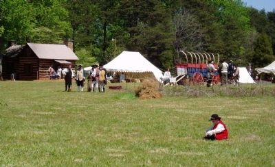 Living History at Fort Dobbs image. Click for full size.